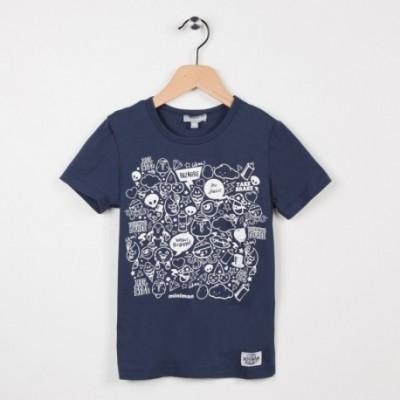 Tee-shirt marine avec motif imprimé