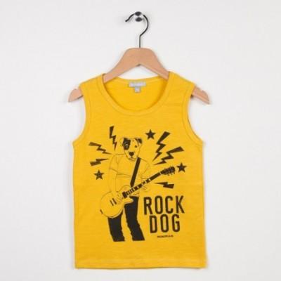 Débardeur jaune avec motif tendance rock