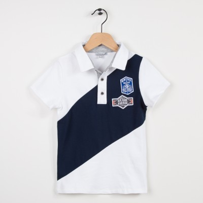 Polo bicolore style rugby