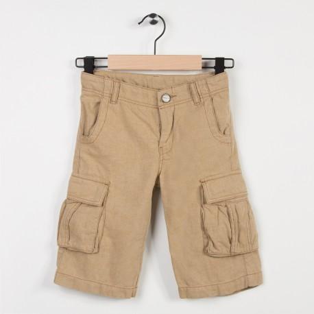 Bermuda beige avec poches