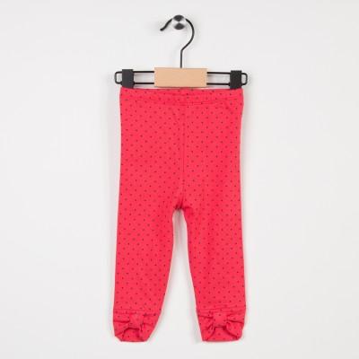 Legging rouge avec nœuds