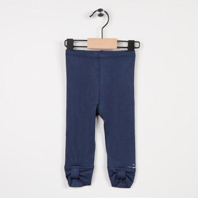 Legging bleu marine avec noeuds