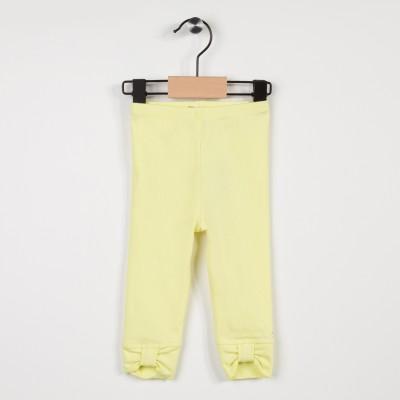 Legging jaune avec noeuds