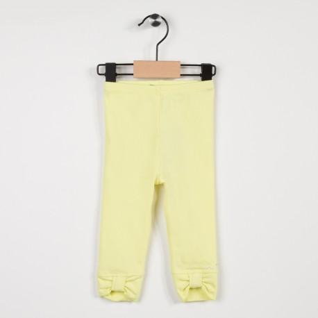 Legging jaune avec nœuds