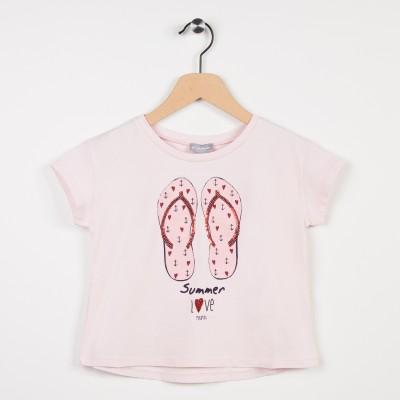 Tee-shirt avec motif fantaisie - Rose pale