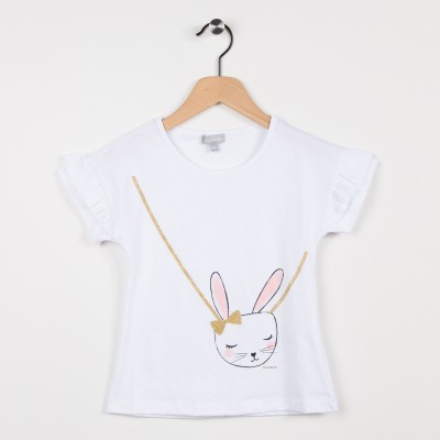 7aa902e0e30 Tee-shirt marine avec motif motif plume et feuille - Miniman Shop