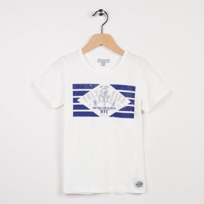Tee-shirt écru avec motif tendance nautique