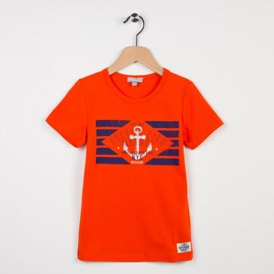 Tee-shirt-shirt rouge avec motif tendance nautique