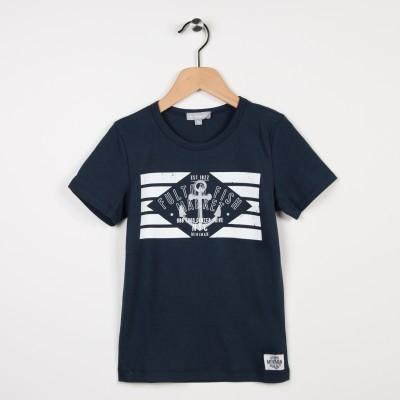 Tee-shirt marine avec motif tendance nautique