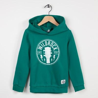 Sweat-shirt à capuche avec motif - Vert fonce