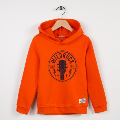 Sweat-shirt à capuche avec motif - Orange