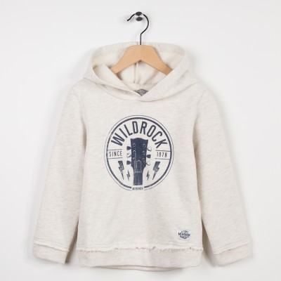 Sweat-shirt à capuche avec motif
