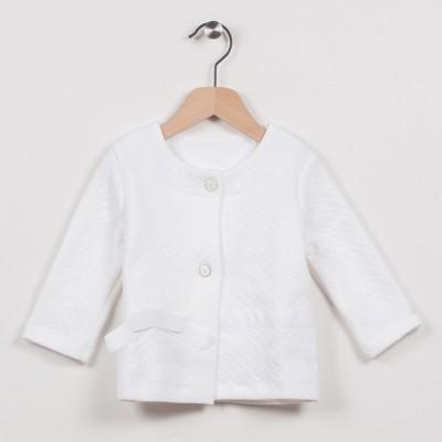 Cardigan blanc avec noeud