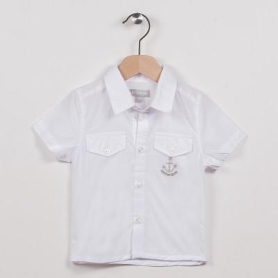 Chemise blanche avec poches