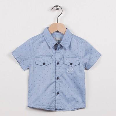 Chemise bleue avec poches