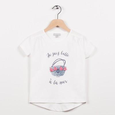 Tee-shirt écru avec motif esprit plage