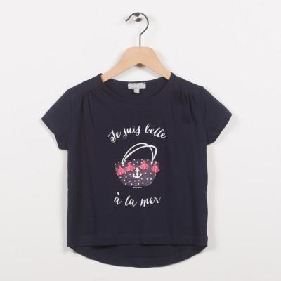 Tee-shirt marine avec motif esprit plage