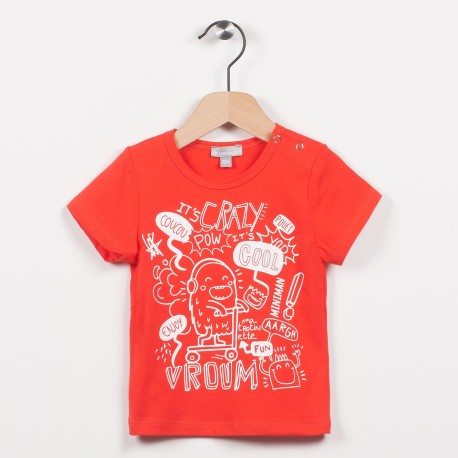 Tee-shirt rouge avec motif
