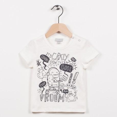 Tee-shirt écru avec motif