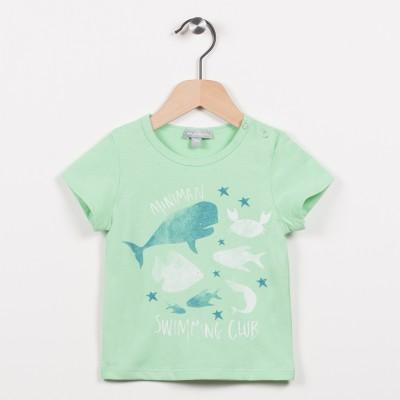 Tee-shirt vert avec motif esprit aquatique