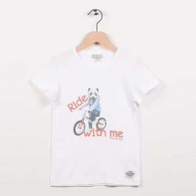 Tee-shirt blanc avec motif imprimé