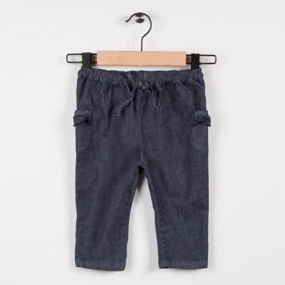 Pantalon en jean léger avec noeud et volants