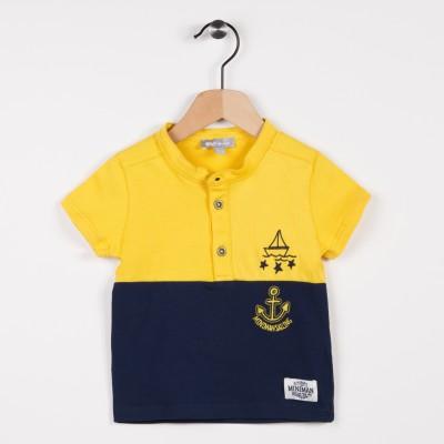 Polo en jersey bicolore