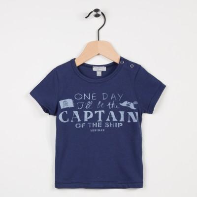 Tee-shirt marine avec motif
