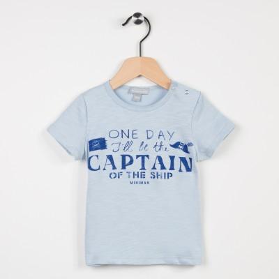 Tee-shirt bleu ciel avec motif