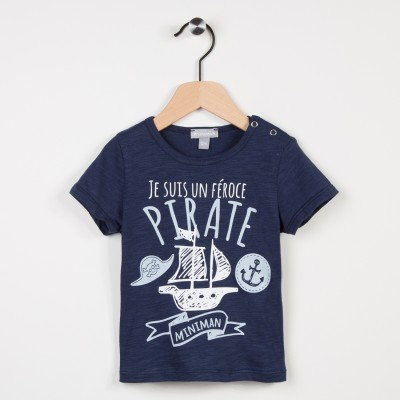 Tee-shirt marine avec motif pirate