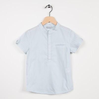 Nouvelle forme chemise en coton rayé