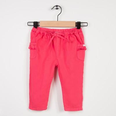 Pantalon rose avec taille élastiquée