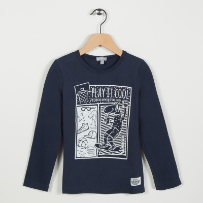 Tee-shirt avec motif esprit streetwear - Marine