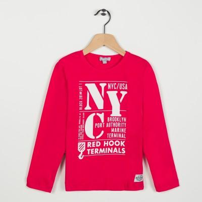Tee-shirt avec motif imprimé - Rouge