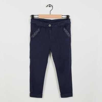 Pantalon avec broderie  - Marine
