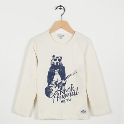 Tee-shirt avec motif esprit rock - Blanc