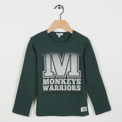Tee-shirt avec motif imprimé - Vert fonce