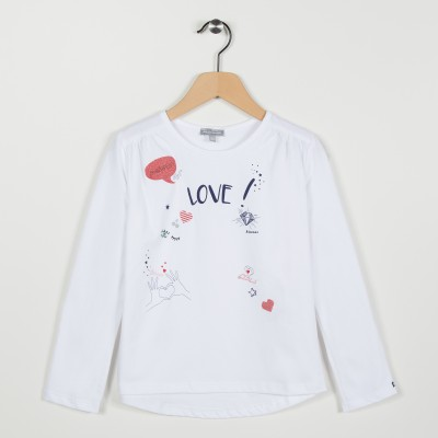 Tee-shirt avec motif Love - Blanc