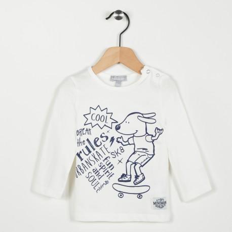 Tee-shirt écru avec motif - Ecru