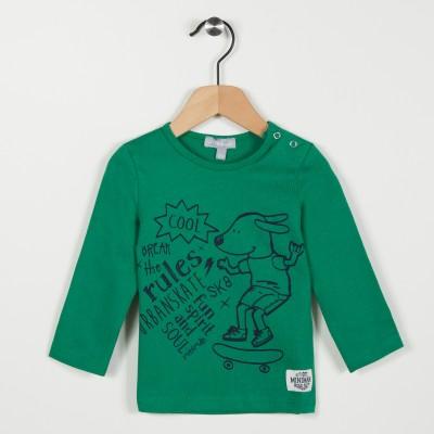 Tee-shirt vert avec motif - Vert