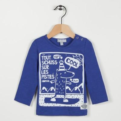 Tee-shirt bleu avec motif - Bleu roi