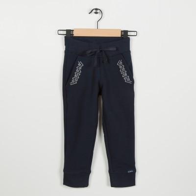 Pantalon molleton avec broderie - Marine