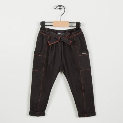 Pantalon en maille fantaisie - Marine