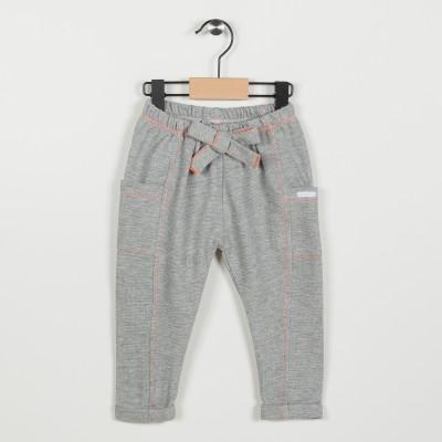 Pantalon en maille fantaisie - Gris clair