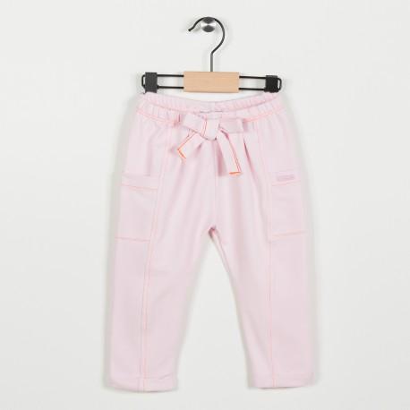 Pantalon en maille fantaisie - Rose pale
