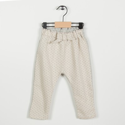 Pantalon avec taille élastiquée - Beige fonce