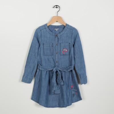 Robe en jean esprit chemise - Indigo