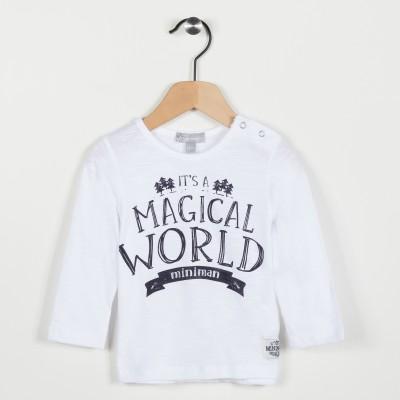Tee-shirt blanc avec motif - Blanc