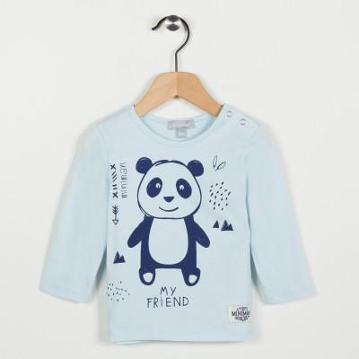 Tee-shirt avec motif panda - Bleu ciel