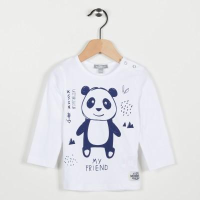 Tee-shirt avec motif panda - Blanc